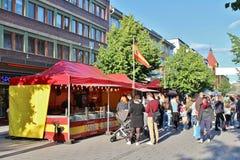 Paella Espanol en mercado callejero internacional fotografía de archivo libre de regalías