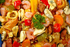 Paella - haut proche Photo stock