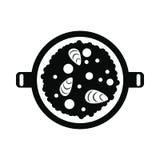 Paella icon, simple style Royalty Free Stock Photo