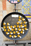 Paella magnetic souvenir in Spain, Royalty Free Stock Photo