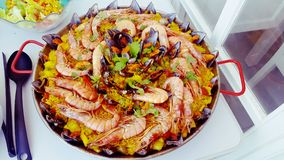Paella. Mariscos food spain alicante Stock Photography