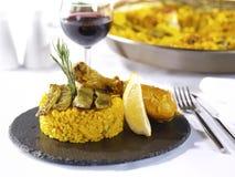 Paella Menu in a Restaurant Royalty Free Stock Photo