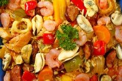Paella - nahes hohes Stockfoto