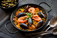Paella On A Table Royalty Free Stock Image