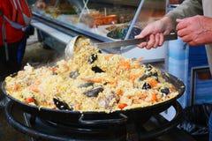 Paella op het festival van het straatvoedsel Royalty-vrije Stock Fotografie