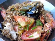 paella owoce morza Obrazy Stock