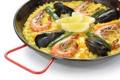 Paella, paraboloïde de riz espagnol Photographie stock libre de droits