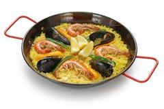 Paella, piatto del riso spagnolo immagini stock libere da diritti