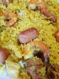 paella, piatto spagnolo tradizionale dell'alimento fotografie stock libere da diritti