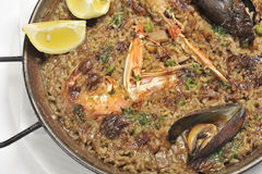 Paella plate Stock Photo
