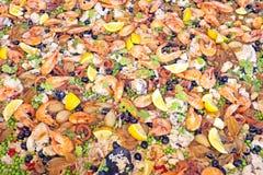Paella, plato español típico Fotos de archivo libres de regalías