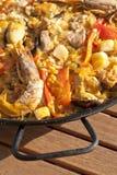 Paella rice stock photo