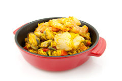 Paella with sea food Stock Image