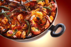Paella of Seafood Royalty Free Stock Images