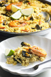 Paella with seafood Stock Photos