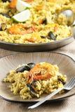 Paella with seafood Stock Image