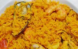 Paella seafood dish Stock Image