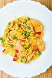 Paella with seafood Stock Photography