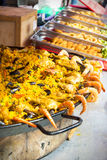 Paella selling street market La Ciotat Royalty Free Stock Images