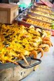 Paella selling street market La Ciotat Royalty Free Stock Images