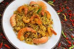 paella with shrimp Royalty Free Stock Photo