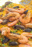 Paella with shrimps and mussels Stock Image