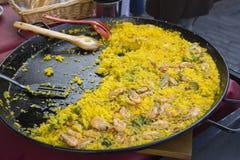 Paella spagnolo immagini stock