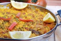Paella spagnolo fotografia stock
