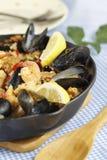 Paella spagnolo del pasto fotografia stock