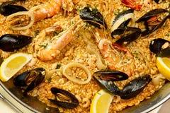 Paella spagnolo squisito immagini stock