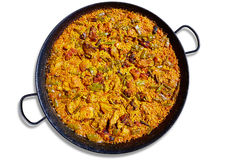 Paella from Spain rice recipe Stock Image