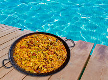 Paella from Spain rice recipe Royalty Free Stock Photo