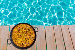 Paella from Spain rice recipe Royalty Free Stock Image