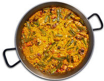 Paella from Spain rice recipe from Valencia Royalty Free Stock Photo