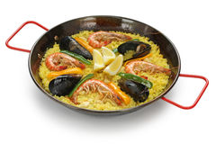 Paella , spanish rice dish Royalty Free Stock Images