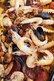Paella squisito dei frutti di mare Immagine Stock