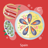Paella traditional Spanish meal Royalty Free Stock Photos