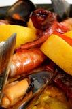 Paella - Traditional spanish rice Royalty Free Stock Photos