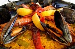 Paella - Traditional spanish rice Royalty Free Stock Image