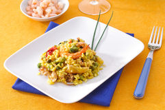 Paella, typical Spanish dish Stock Photography