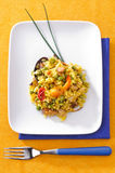 Paella, typical Spanish dish Royalty Free Stock Image