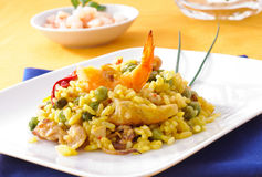 Paella, typical spanish dish Stock Photo