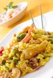 Paella, typical spanish dish, closeup Royalty Free Stock Image