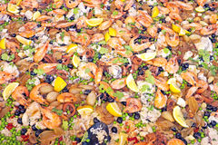 Paella, typical Spanish dish Royalty Free Stock Photos
