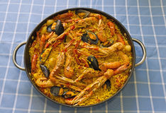 Paella Valenciana Stock Photography