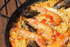 Paella Valenciana Fotos de Stock Royalty Free