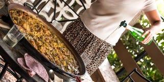 Paella valenciana Stock Images
