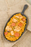 Paella Valenciana Royalty Free Stock Photography