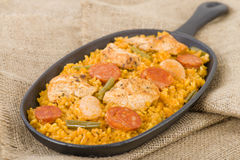 Paella Valenciana Royalty Free Stock Images