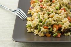 Paella vegetariano immagini stock